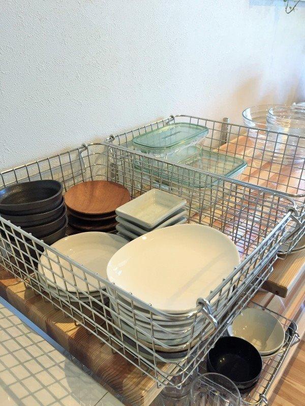 キッチン 見せる収納を改良