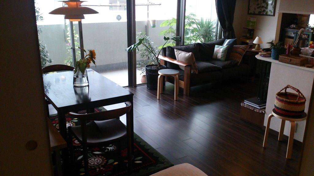 <3LDKマンションリビングダイニングのレイアウト>現在の家具配置になるまでの色々考察。