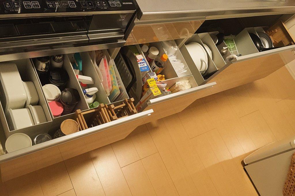 キッチンの収納の見直し