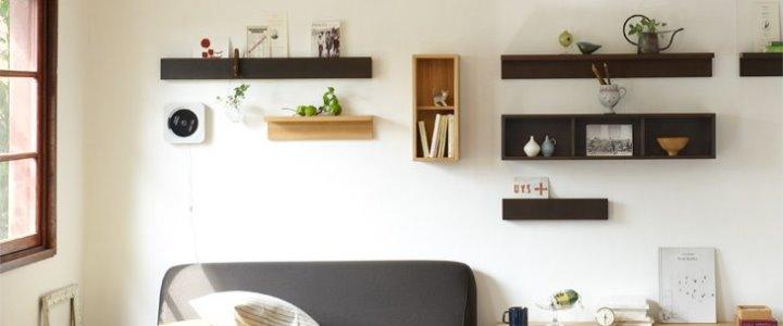 無印良品の壁に付けられる家具で見せる収納