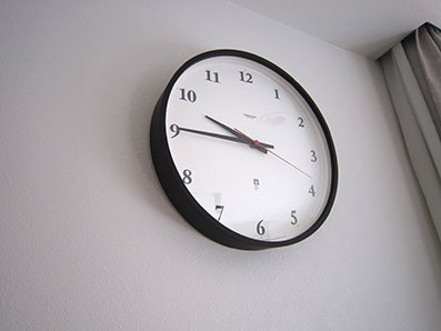念願のリビング掛け時計