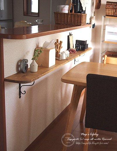 キッチンカウンター下に、棚。